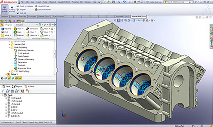 VisualCAM-Mill for SolidWorks Screenshot